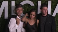 Jimmy Giannopoulos Zoe Kravitz and James Levy at Michael Kors Celebrates The Launch Of Claiborne Swanson Frank's 'Young Hollywood' on October 02 2014...