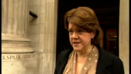 DPP to review decision not to press charges Maria Miller interview ENGLAND London Westminster EXT GVs Maria Miller MP towards from building to speak...