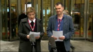 Pollard Report Liz MacKean and Meirion Jones statements ENGLAND London BBC Broadcasting House PHOTOGRAPHY** Liz McKean and Meirion Jones from...