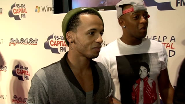 celebrity interviews JLS interview SOT On Christmas style advice / New Year's resolutions On why it's been a good year for boy bands On their fans...