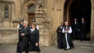procession from Parliament ENGLAND London Westminster EXT John Bercow along from Houses of Parliament St Stephen's entrance with Frances D'Souza...