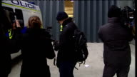 Vincent Tabak court arrival and departure ENGLAND Bristol Bristol Magistrates Court SHOT up to two police cars outside court ZOOM to one as it enters...