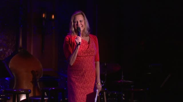 SPEECH JoBeth Williams welcomes guests to the Screen Actors Guild Foundation Kicks Off First New York Fundraiser at 54 Below on October 06 2013 in...