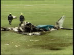 Latest LIB Newmarket Wreckage of plane after crash which Dettori and fellow jockey Ray Cochrane survived but in which the pilot was killed Propeller...