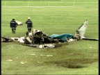 Latest LIB Newmarket Wreckage of plane after crash which Dettori and fellow jockey Ray Cochrane survived but in which the pilot was killed Wreckage...
