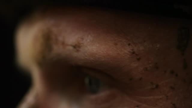 Jockey's eyes