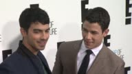Joe and Nick Jonas at E Upfront 2012 at Gotham Hall on April 30 2012 in New York New York