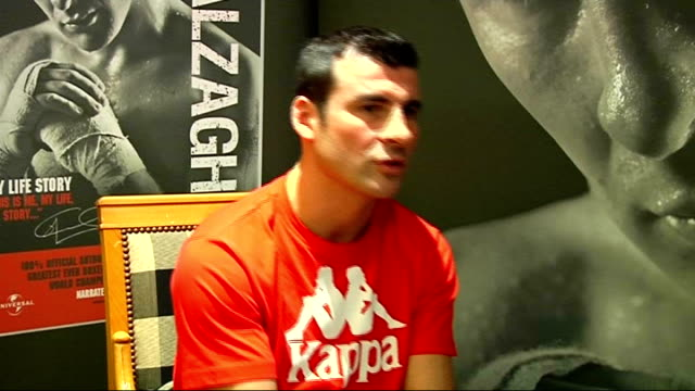 Newport The Celtic Manor Resort INT Calzaghe interview SOT No way would go back to SuperMiddleweight though would think about fighting at Catchweight...