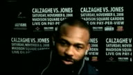 preview ENGLAND London GIR INT Dempsey and Bunce preview fight USA New York City INT Jones interview SOT Talks about how he is great fighter / Cannot...