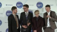 Joe Newman Gwil Sainsbury Thom Green Gus UngerHamilton of Alt J on how they feel after winning the Mercury Prize at Barclaycard Mercury Music Prize...