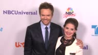 Joel McHale Alison Brie at the NBC Universal Press Tour AllStar Party at Los Angeles CA