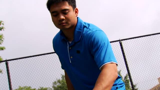Joe's Tennis Serve - Low Angle