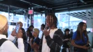 Joey Badass at Pharrell Williams and GStar RAW Present the New GStar Elwood X25 Prints at TBD on September 13 2017 in New York City