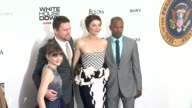 Joey King Channing Tatum Maggie Gyllenhaal Jamie Foxx and Garcelle Beauvais at White House Down Premiere on June 25 2013 in Ziegfeld Theater New York...