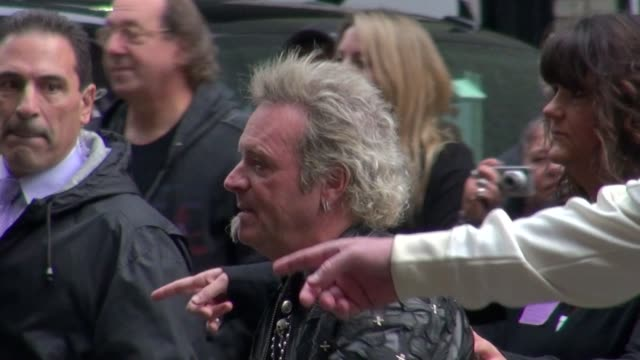 Joey Kramer of Aerosmith outside of the Late Show in New York NY on 11/01/12