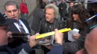 Joey Kramer of Aerosmith signs for fans outside VH1 in New York NY on 11/02/12