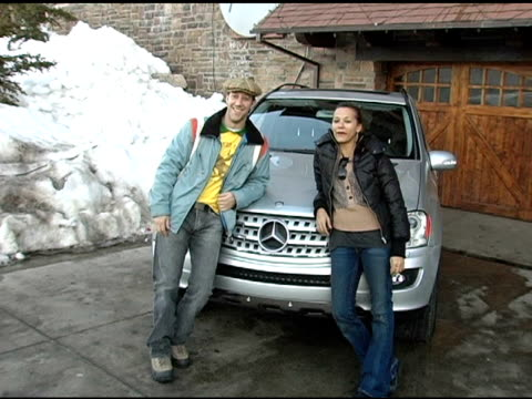 Joey Slotnick and Rashida Jones with the Mercedes Benz M Class at the 2005 Park City Mercedes Benz at the Motorola Lodge at Motorola Lodge in Park...