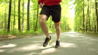HD SUPER SLOW-MO: Jogger In Action