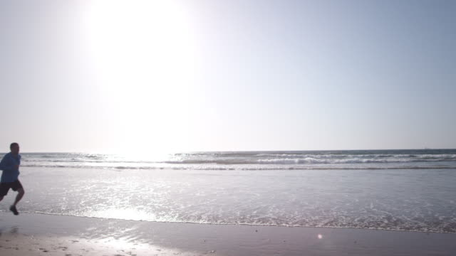 Jogging at the beach