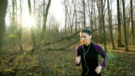 Jogging in autumn time.