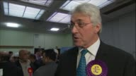 John Bickley and Jim McMahon interviews ***SOUND Greater Manchester Oldham INT John Bickley interviewed / Jim McMahon MP interview