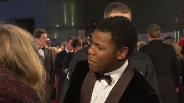 John Boyega at The EE British Academy Film Awards at The Royal Opera House on February 14 2016 in London England