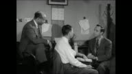John Daly interviews reporters Earl Brown of Life Magazine and Ed Mowery of the New York WorldTelegram about the teenage drug problem / closeup...