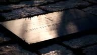 John F. Kennedy, Gravesite, tilt up to Eternal Flame,