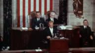 WS ZI John glenn at podium addressing congress