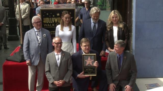 John Goodman Jeff Bridges Brie Larson Tom Hiddleston at Hollywood Walk Of Fame on March 10 2017 in Hollywood California