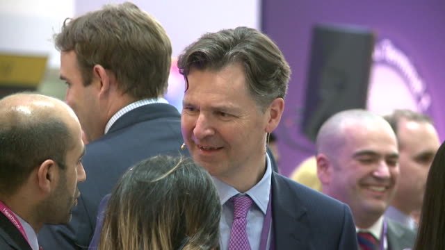 John HollandKaye Heathrow's chief executive officer talks to fellow guest at reception to mark closure of the airport's terminal one The building at...