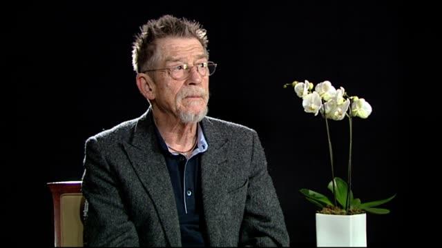 John Hurt on Gary Oldman being nominated foe an Oscar at Jayne Mansfield's Car Interview 62nd International Berlin Film Festival 2012 at on February...