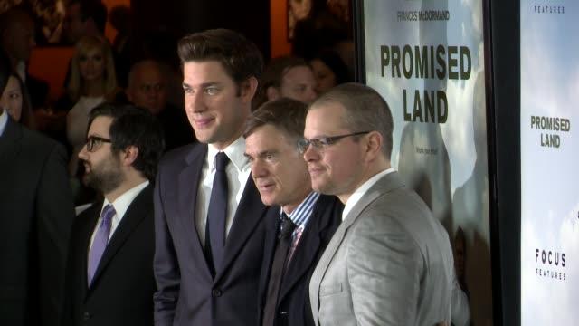 John Krasinski Gus Van Sant Matt Damon at Promised Land Los Angeles Premiere on 12/6/12 in Los Angeles CA