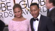 John Legend and Chrissy Teigen at the 72nd Annual Golden Globe Awards Arrivals at The Beverly Hilton Hotel on January 11 2015 in Beverly Hills...