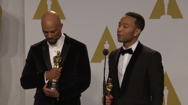 SPEECH John Legend and Common at the 87th Annual Academy Awards Press Room at Dolby Theatre on February 22 2015 in Hollywood California