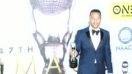 John Legend at 47th NAACP Image Awards in Los Angeles CA