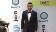 John Legend at 48th NAACP Image Awards at Pasadena Civic Auditorium on February 11 2017 in Pasadena California