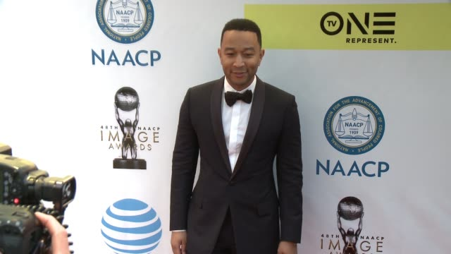 John Legend at 48th NAACP Image Awards at Pasadena Civic Auditorium on February 11 2017 in Pasadena California