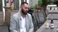 Trademark row as Beatles widow sues lemonade startup ENGLAND London INT 'John Lemon' drinks bottles on display in wooden block Bar Karol Chamera...