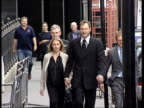 John Leslie court apearance ITN London Bow Street Magistrates Court Presenter John Leslie arriving at court with girlfriend Abby Titmuss Clean Feed...