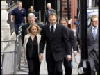 John Leslie court apearance ITN London Bow Street Magistrates Court Presenter John Leslie towards with girlfriend Abby Titmuss as arriving at court...
