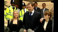 John Leslie denies latest rape allegation TX EXT Television Presenter John Leslie towards from court with then girlfriend Abby Titmuss and his...