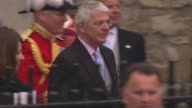 John Major at the Royal Wedding Departures Westminster Abbey A Camera at London England