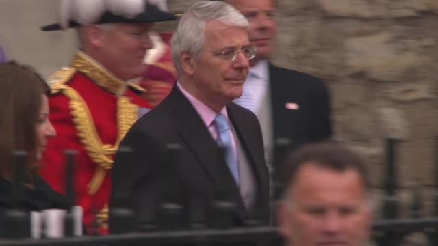 John Major at the Royal Wedding Departures Westminster Abbey A Camera at London England