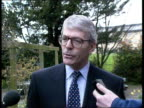 John Major questions over leadership ENGLAND Cambridge Huntingdon MS Prime Minister John Major MP along towards with local party members after...