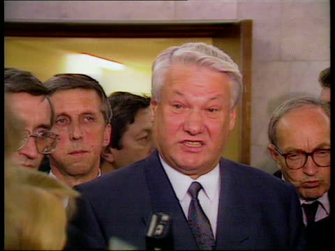 John Major Visit LOCATION UNKNOWN CMS Major toasting PULL OUT with leaders from Baltic States MS Ditto MS Boris Yeltsin along PAN RL into room shakes...