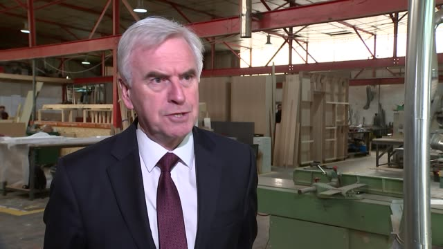 John McDonnell visits BloQs workshop John McDonnell MP interview SOT want to extend this model of entrepreneurship across country loss of trust in...