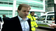 John Prescott recovering from pneumonia ENGLAND London EXT David Prescott speaking to press SOT He would like to say a big thank you to all the...