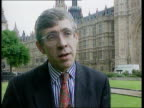 Political background EXT Westminster CMS Jack Straw MP intvwd SOT People felt a sense of hope with Smith and felt safe with him
