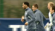 John Terry reinstated as permanent England captain England players train Terry and other players skipping and jogging along during warmup / Capello...